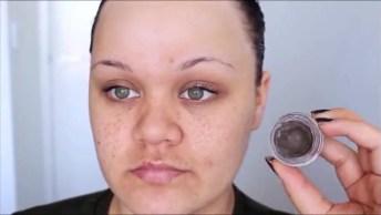 Tutorial De Maquiagem Com Sombra Lilás E Esfumado Preto, Simplesmente Linda!
