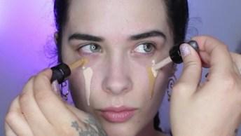 Tutorial De Maquiagem Com Sombra Marrom E Com Toque Cintilante!