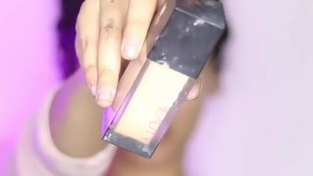 Tutorial De Maquiagem Com Sombra Rosa E Lilás, E Batom Nude!