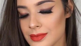 Tutorial De Maquiagem Completo Com Preparação De Pele E Batom Vermelho!