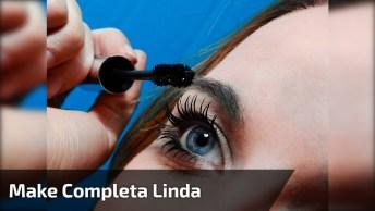 Tutorial De Maquiagem Completo Com Preparação De Pele, Sombra E Batom!!!