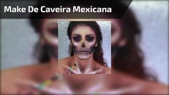 Tutorial De Maquiagem De Caveira Mexicana Para Halloween, Simplesmente Perfeito!