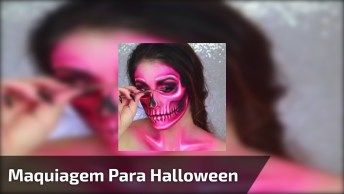 Tutorial De Maquiagem De Caveira Mexicana Para Noite De Halloween!