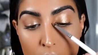 Tutorial De Maquiagem Iluminada, Um Vídeo Que Você Vai Se Apaixonar!