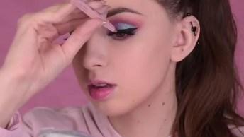 Tutorial De Maquiagem Linda, Olha Só Esta Cor De Sombra Perfeita!