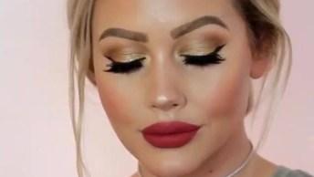 Tutorial De Maquiagem Maravilhoso, Veja Como É Fácil Fica Linda!