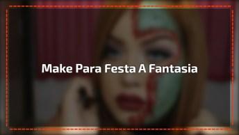 Tutorial De Maquiagem Para Festa A Fantasia, Ou Festa De Halloween!