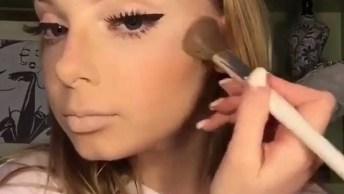 Tutorial De Maquiagem Para Garotas, Olha Só Como Ela Manda Bem!