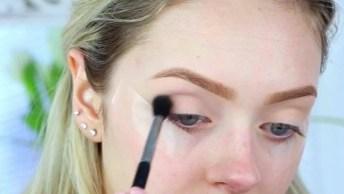 Tutorial De Maquiagem Para O Dia A Dia, Veja Que Linda Preparação De Pele!
