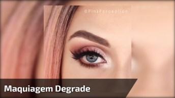 Tutorial De Maquiagem Para Os Olhos Degrade, Vale A Pena Conferir!