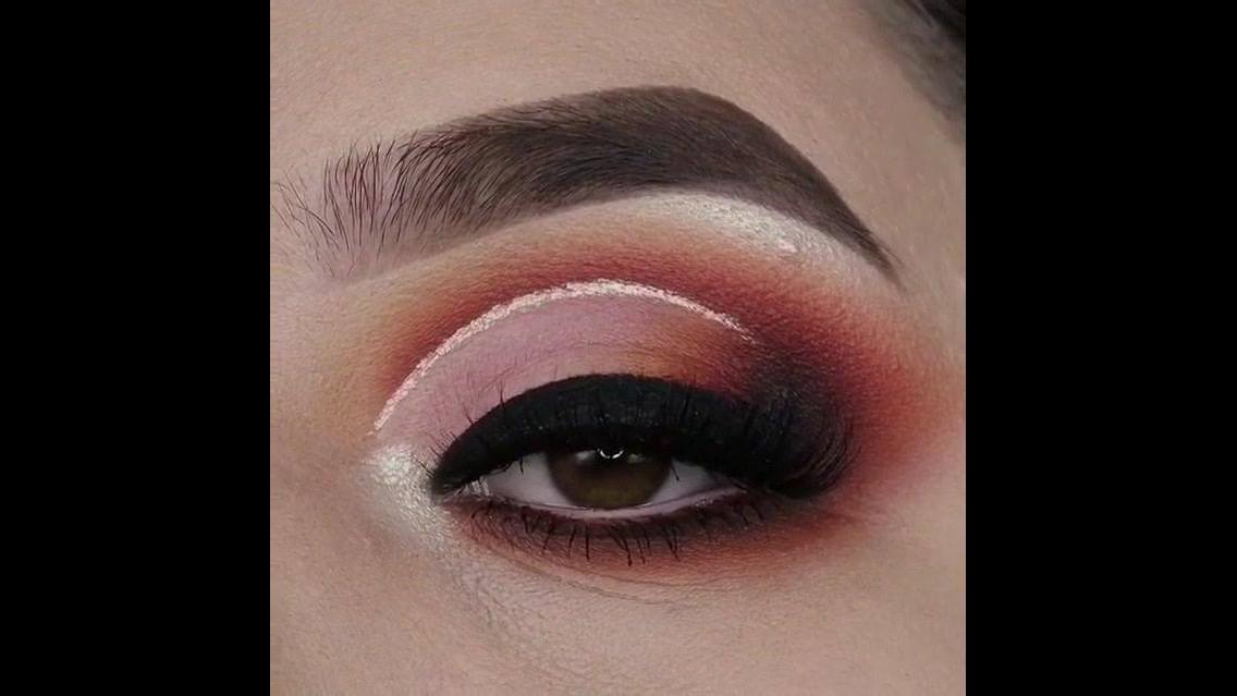 Tutorial de maquiagem para os olhos marrom terra