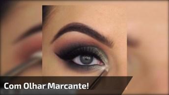 Tutorial De Maquiagem Para Sair Anoite, Com Olhar Marcante!