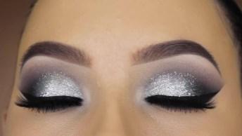 Tutorial De Maquiagem Prata Com Esfumado, Simplesmente Perfeita!