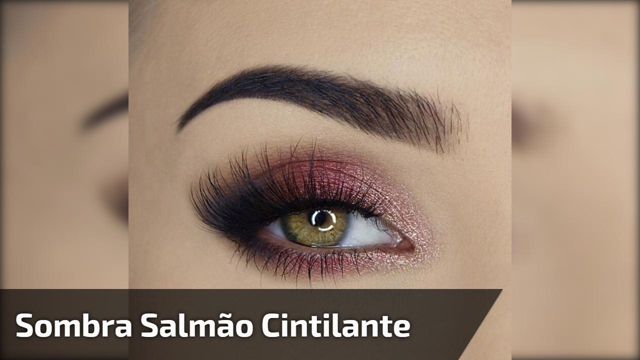 Sombra salmão cintilante