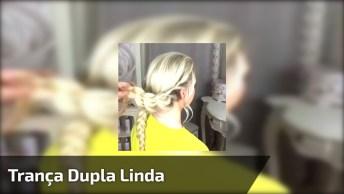 Tutorial De Penteado Com Trança Dupla, Olha Só Que Penteado Lindo!