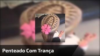 Tutorial De Penteado Com Trança Para Fazer Em Meninas, Muito Lindo!