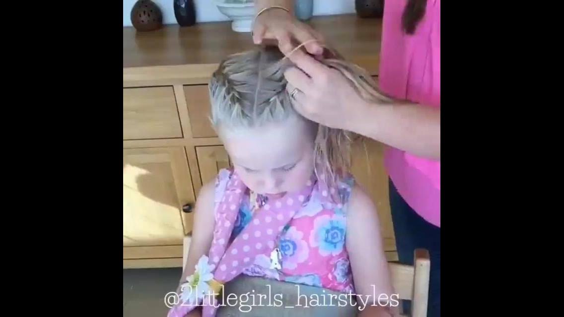 Tutorial de penteado com trança para garotinhas, olha só que lindo!!!