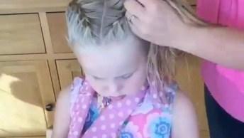 Tutorial De Penteado Com Trança Para Garotinhas, Olha Só Que Lindo!