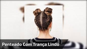 Tutorial De Penteado Com Trança Para Você Mesma Fazer, Muito Linda!
