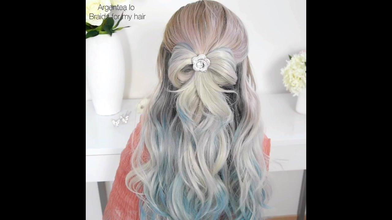 Tutorial de penteado meio preso, olha só que lindo este laço feito com cabelo!!!