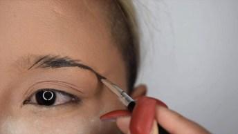 Tutorial De Preenchimento De Sobrancelhas Com Maquiagem, Olha Só Que Linda!