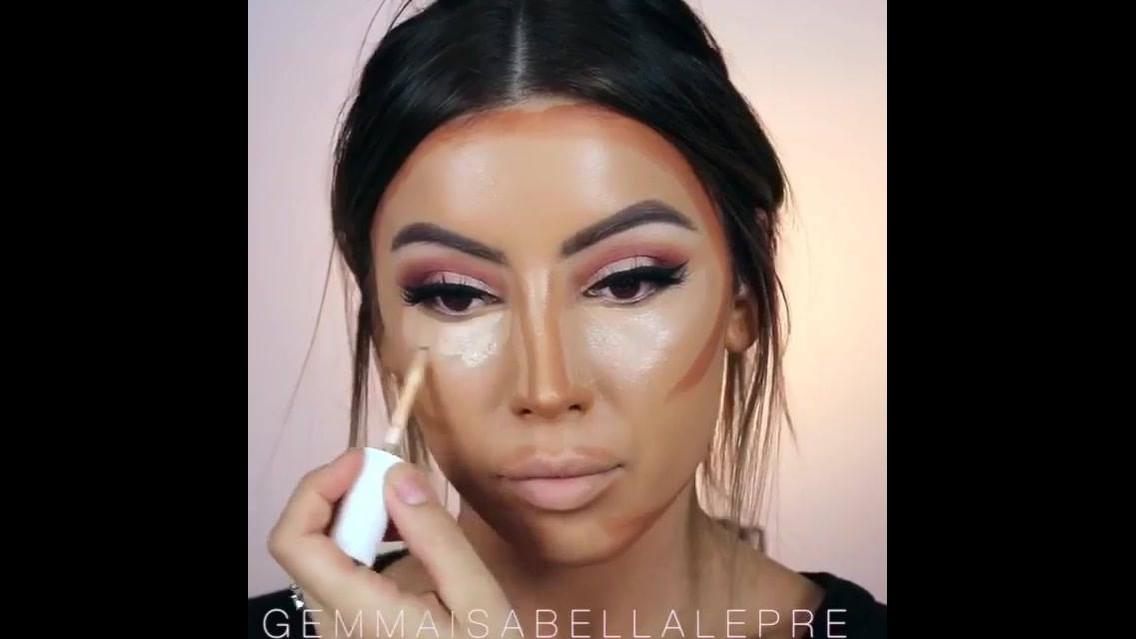Tutorial de preparação de pele com contorno, olha só que perfeição!!!