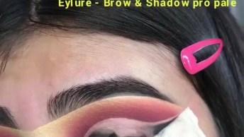 Tutorial De Sombra Rosa, Com Leve Toque De Dourado, Olha Só Que Perfeita!