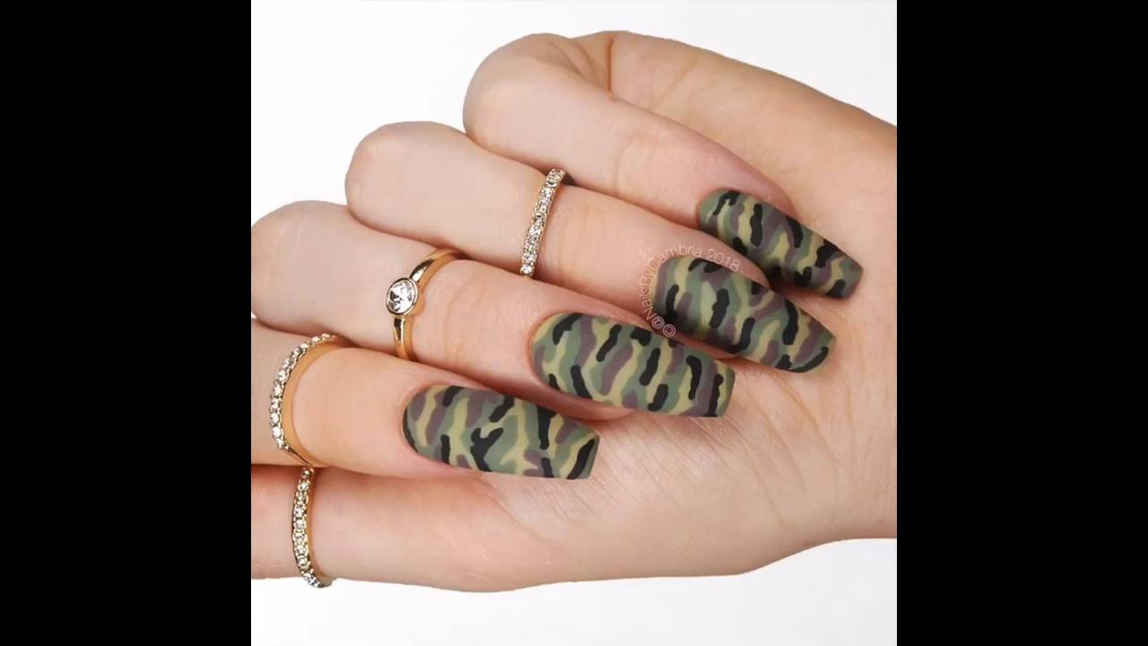 Tutorial de unha camuflada, e outras lindas inspirações de decoração de unhas!!