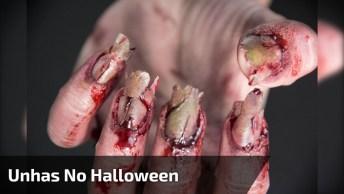 Tutorial De Unhas Artísticas Para Assustar Os Amigos No Halloween!