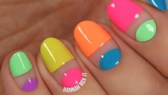 Tutorial De Unhas Coloridas, Olha Só Que Legal Estes Desenhos!