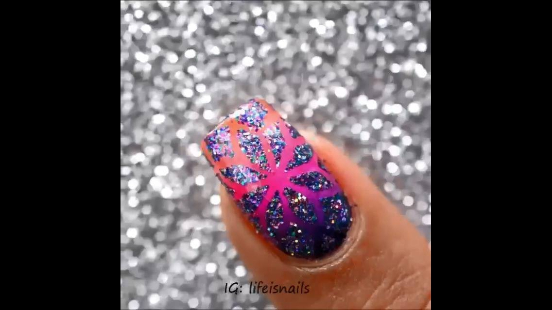 Tutorial de unhas decoradas coloridas lindíssimas