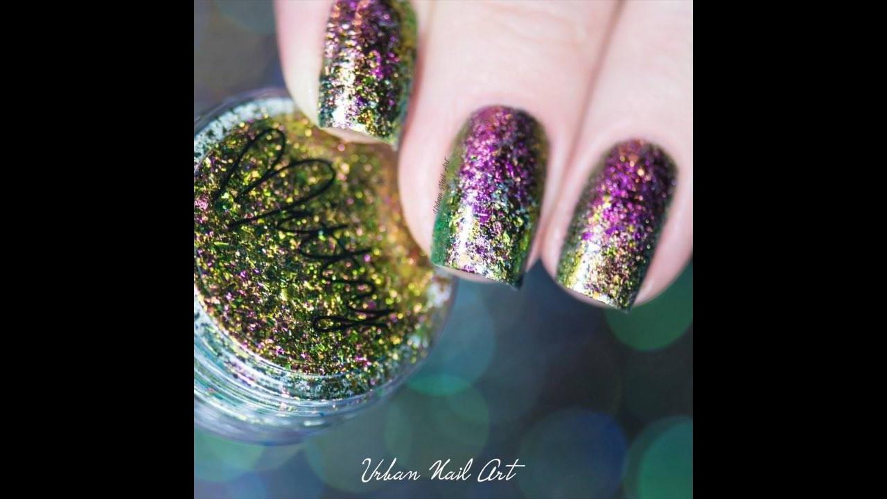 Tutorial de unhas decoradas com muito brilho