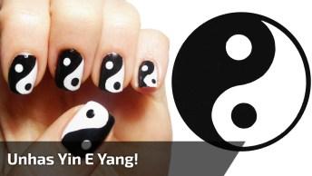 Tutorial De Unhas Decoradas Com Simbolo Yin E Yang, Muito Linda!