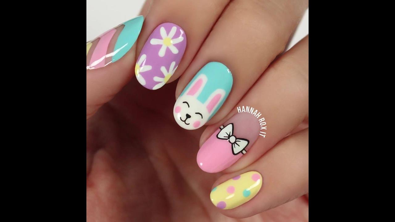 Tutorial de unhas decoradas super fofas, olha só que lindinhas!!!