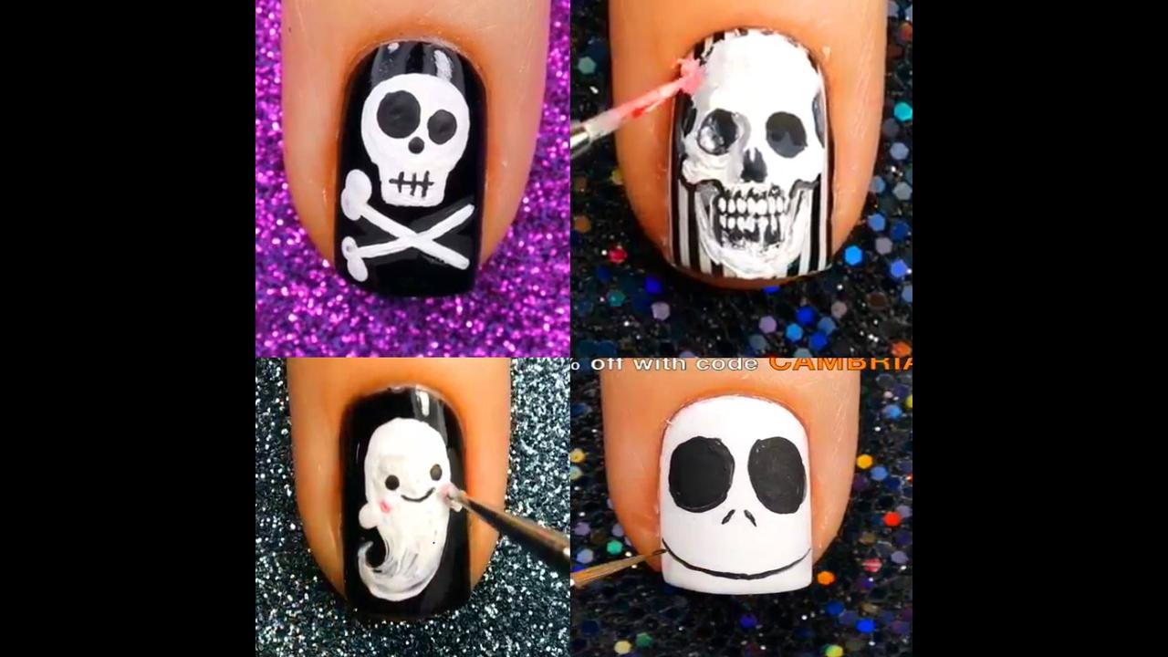 Tutorial de unhas para o Halloween