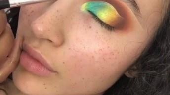 Tutorial Para Fazer Uma Sombra Colorida, Você Vai Adorar Essa Ideia!