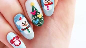 Unhas Com Decoração Para O Natal, Super Meiga E Linda, Confira!