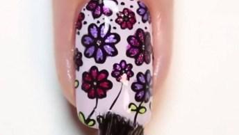 Unhas Com Decorações De Flores E Cores, Perfeitas Para A Chegada Da Primavera!