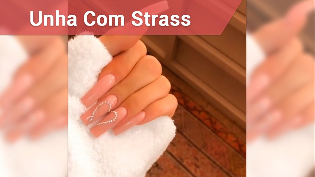 Unhas decoradas Strass