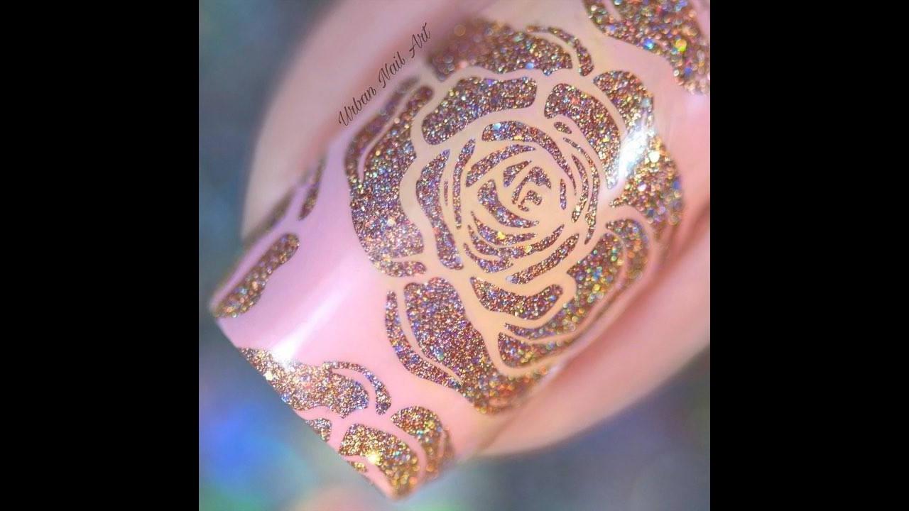 Unhas com rosas, um lindo trabalho para você aprender, confira!