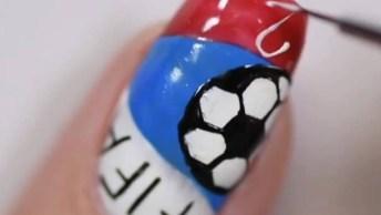 Unhas Decoradas Com Tema Da Copa Do Mundo, Qual Você Usaria?