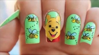 Unhas Decoradas Com Tema Ursinho Pooh, Olha Só Que Lindinhas!