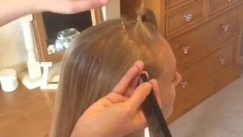 Veja Que Trança Lindíssima Deste Tutorial! Amo Esses Penteados!