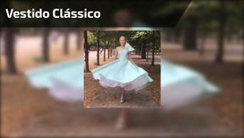 Vestido Clássico, Perfeito Para Mulheres Conservadoras, Confira!