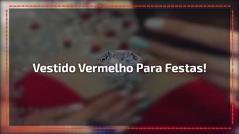 Vestido Vermelho Cravejado De Cristais, Perfeito Para Formaturas E Festas!