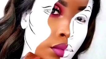 Vídeo Com Inspiração Belíssima De Maquiagem Para Festa A Fantasia, Confira!