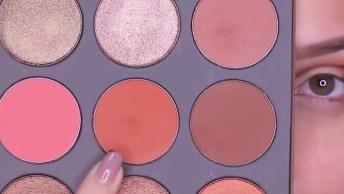 Vídeo Com Inspiração De Make Com Sombra Marrom Claro, E Glitter Dourado!