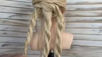 Vídeo Com Inspiração De Penteado Para Cabelo Longo, Ele Fica Lindo Para Noivas!