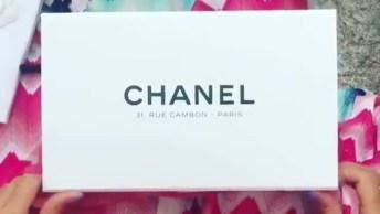 Vídeo Com Linda Bolça Da Chanel Cor De Rosa, Simplesmente Linda!