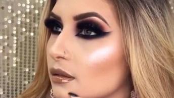 Vídeo Com Linda Inspiração De Maquiagem Para Os Olhos Para Formatura!